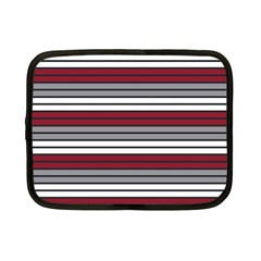 Fabric Line Red Grey White Wave Netbook Case (small)  by Alisyart