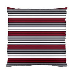 Fabric Line Red Grey White Wave Standard Cushion Case (one Side) by Alisyart