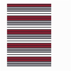 Fabric Line Red Grey White Wave Small Garden Flag (two Sides) by Alisyart