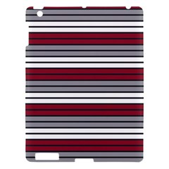 Fabric Line Red Grey White Wave Apple Ipad 3/4 Hardshell Case by Alisyart