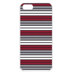 Fabric Line Red Grey White Wave Apple Iphone 5 Seamless Case (white) by Alisyart