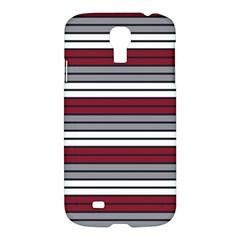Fabric Line Red Grey White Wave Samsung Galaxy S4 I9500/i9505 Hardshell Case by Alisyart