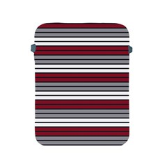 Fabric Line Red Grey White Wave Apple Ipad 2/3/4 Protective Soft Cases by Alisyart