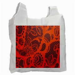 Enlarge Orange Purple Recycle Bag (two Side)  by Alisyart