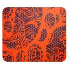 Enlarge Orange Purple Double Sided Flano Blanket (small)  by Alisyart