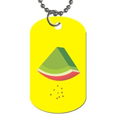 Fruit Melon Sweet Yellow Green White Red Dog Tag (two Sides) by Alisyart