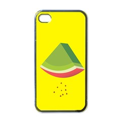 Fruit Melon Sweet Yellow Green White Red Apple Iphone 4 Case (black) by Alisyart