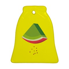 Fruit Melon Sweet Yellow Green White Red Bell Ornament (two Sides) by Alisyart