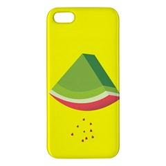 Fruit Melon Sweet Yellow Green White Red Apple Iphone 5 Premium Hardshell Case by Alisyart