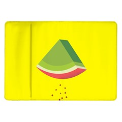Fruit Melon Sweet Yellow Green White Red Samsung Galaxy Tab 10 1  P7500 Flip Case by Alisyart