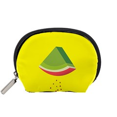 Fruit Melon Sweet Yellow Green White Red Accessory Pouches (small)  by Alisyart