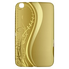 Golden Wave Floral Leaf Circle Samsung Galaxy Tab 3 (8 ) T3100 Hardshell Case  by Alisyart