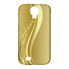 Golden Wave Floral Leaf Circle Samsung Galaxy S4 Classic Hardshell Case (pc+silicone) by Alisyart