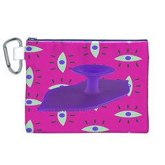 Eye Purple Pink Canvas Cosmetic Bag (xl) by Alisyart