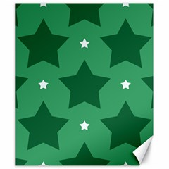 Green White Star Canvas 20  X 24   by Alisyart