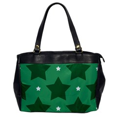 Green White Star Office Handbags by Alisyart