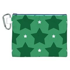 Green White Star Canvas Cosmetic Bag (xxl) by Alisyart