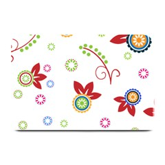 Floral Flower Rose Star Plate Mats by Alisyart