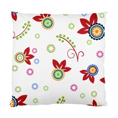 Floral Flower Rose Star Standard Cushion Case (two Sides) by Alisyart
