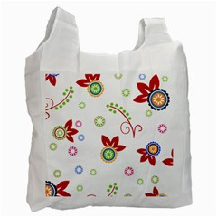 Floral Flower Rose Star Recycle Bag (two Side)  by Alisyart