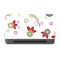 Floral Flower Rose Star Memory Card Reader With Cf by Alisyart