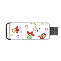Floral Flower Rose Star Portable Usb Flash (two Sides) by Alisyart