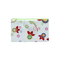 Floral Flower Rose Star Cosmetic Bag (xs) by Alisyart