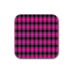 Cell Background Pink Surface Rubber Coaster (square)  by Simbadda
