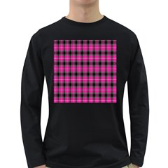Cell Background Pink Surface Long Sleeve Dark T-Shirts