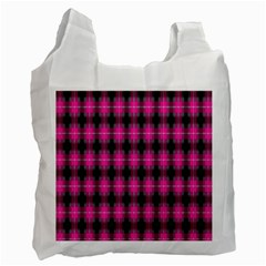Cell Background Pink Surface Recycle Bag (two Side)  by Simbadda