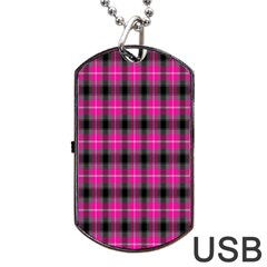 Cell Background Pink Surface Dog Tag Usb Flash (one Side) by Simbadda