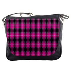 Cell Background Pink Surface Messenger Bags by Simbadda