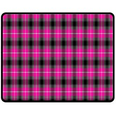 Cell Background Pink Surface Double Sided Fleece Blanket (medium)  by Simbadda