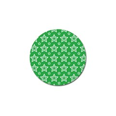 Green White Star Line Space Golf Ball Marker by Alisyart