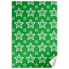 Green White Star Line Space Canvas 12  X 18   by Alisyart