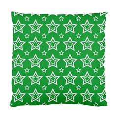 Green White Star Line Space Standard Cushion Case (one Side) by Alisyart
