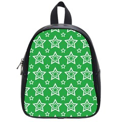 Green White Star Line Space School Bags (small)  by Alisyart