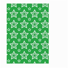 Green White Star Line Space Large Garden Flag (two Sides) by Alisyart