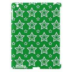 Green White Star Line Space Apple Ipad 3/4 Hardshell Case (compatible With Smart Cover) by Alisyart