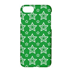 Green White Star Line Space Apple Iphone 7 Hardshell Case by Alisyart