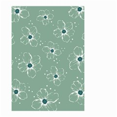 Floral Flower Rose Sunflower Grey Small Garden Flag (two Sides) by Alisyart