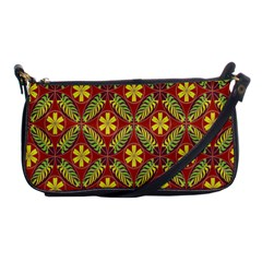 Abstract Yellow Red Frame Flower Floral Shoulder Clutch Bags by Alisyart