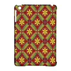 Abstract Yellow Red Frame Flower Floral Apple Ipad Mini Hardshell Case (compatible With Smart Cover) by Alisyart