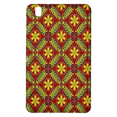 Abstract Yellow Red Frame Flower Floral Samsung Galaxy Tab Pro 8 4 Hardshell Case by Alisyart