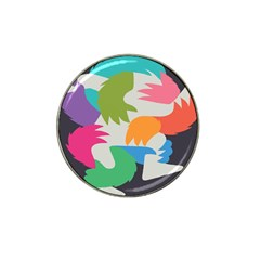 Hand Rainbow Blue Green Pink Purple Orange Monster Hat Clip Ball Marker (10 Pack) by Alisyart
