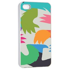 Hand Rainbow Blue Green Pink Purple Orange Monster Apple Iphone 4/4s Seamless Case (white) by Alisyart