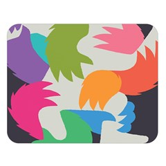 Hand Rainbow Blue Green Pink Purple Orange Monster Double Sided Flano Blanket (large)  by Alisyart