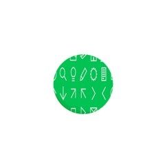 Icon Sign Green White 1  Mini Magnets by Alisyart