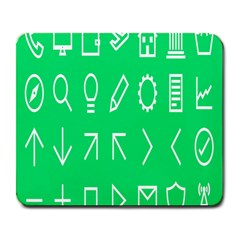 Icon Sign Green White Large Mousepads by Alisyart