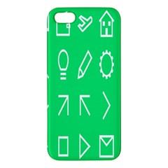 Icon Sign Green White Apple Iphone 5 Premium Hardshell Case by Alisyart
